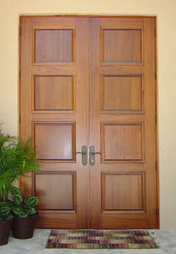 4 Panel Double Contemporary Exterior Doors