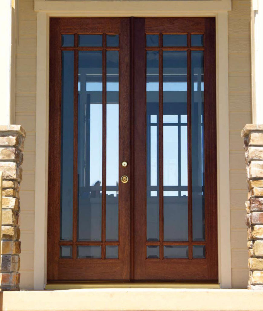 Entryways doorways interior decorating for Small exterior french doors