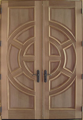 custom double contemporary front doors